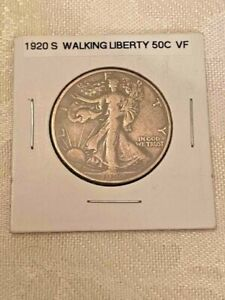 1920-S Walking Liberty Half Dollar 50c Ungraded Fine-VF Quality