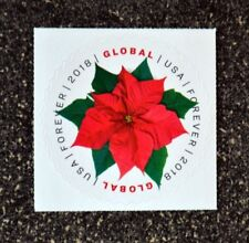 2018USA Global Forever - Poinsettia  Single Mint (international sase) Air Mail