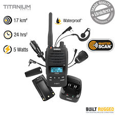 Uniden 5 Watt Heavy Duty UHF Waterproof CB Handheld Radio - 80 UHF Channels