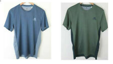 Adidas Climacool Mens Activewear Blue Green Short Sleeve T Shirt Lot of 2 Size M