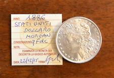 MONETA STATI UNITI 1 DOLLARO MORGAN 1886 ARGENTO sigillata qFDC SUBALPINA