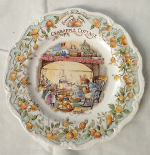 ❤️ROYAL DOULTON ~Brambly HEDGE~ Crabapple COTTAGE ~CHINA Plate~ MINT ~HTF Rare❤️
