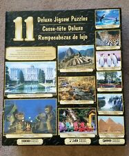 11 Deluxe Jigsaw Puzzles in One Box 2005  7250 Total Pieces