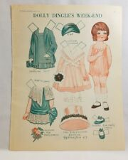 Dolly Dingle's Weekend Paper Dolls Pictorial Review Magazine Aug 1929