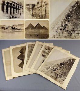 c1880s EGYPT collection of original albumen photographs pyramids sébah bonfils