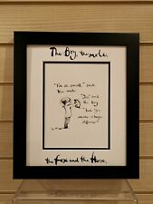 Charlie Mackesy book extract framed. The boy, the mole,the fox and the horse 6
