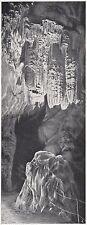 D2613 Slovenia - Grotte di Postumia - Veduta - Stampa - 1922 vintage print
