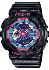 Casio Analog Digital Casual Ladies Baby-g Black Watch Ba-112-1a
