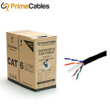 1000FT 23AWG*4P Bare Copper Cat6 550MHz UTP Solid Cable, Riser Rated (CMR) Black