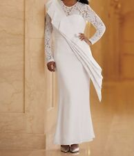 Mother of Bride Groom Women's Wedding party formal gown White Dress plus 20W 2X