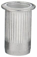 "New listing Fabory Aluminum Flanged Rivet Nut 0.687"" L, 1/4""-20 Dia./Thread Size, 40 Pk"