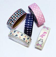 5 x Mixed Grosgrain Ribbon Adhesive Ribbon Stars Anchor Rabbit Love CLEARANCE
