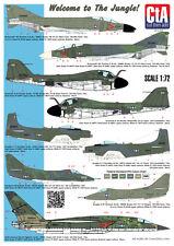 "CTA 1/72 ""Welcome to the Jungle!"" USN Camo Aircraft during Vietnam War - Decal"