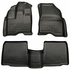 10-19 Ford Taurus Husky Liners WeatherBeater Front Rear Floor Mats Black 98701