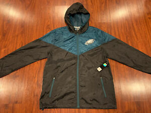 NFL Men's Philadelphia Eagles Full Zip Jacket Windbreaker Large L MSRP 105