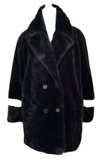 NEW Kensie Woman's Faux Fur Reversible Coat Black sz Medium