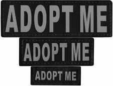 ADOPT ME  Patch Reflective Extra Label Tag for Dog Harness Service