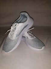 Athletic Works Mesh Trainer Sneakers grey an white Womens Size 8 1/2 Memory Foam