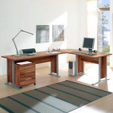 Winkelschreibtisch Schreibtisch Büro Office Line mit Rollcontainer Walnuss