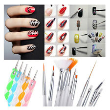 20pcs Nail Art Design Set Dotting Painting Drawing Polish Brush Pen Tools New US