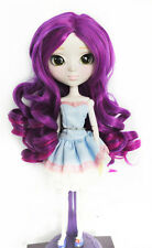 1/3 bjd or Pullip doll bjd 23-25cm head purple violet synthetic wig dollfie
