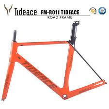 56cm BSA Orange Tideace T800 Full Carbon Fiber Road Racing Bike Frames OEM Frame