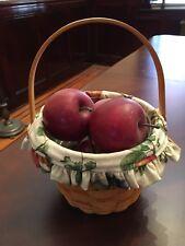 Longaberger Small fruit Basket Liner Protector Complete Set with bonus gift
