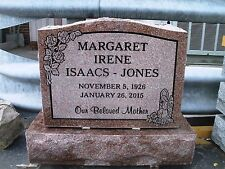 Cemetery headstone monument, 100% granite, Morning Rose, engraving included
