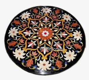 24 Inch Marble Center Table Top Peitra Dura Art Coffee Table from Cottage Crafts