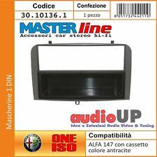 Kit montaggio autoradio 2 DIN per Alfa Romeo 147 ALFA GT Black line colore grigio scuro antracite