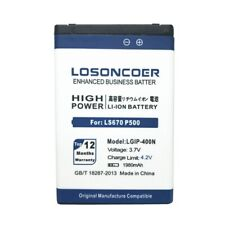 LOSONCOER 1980mAh LGIP-400N for LG Optimus T/M/S/VS660 P509 MS690 GT540 LW690 LS