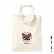 PERSONALISED Name Favour Party Gift Canvas Tote Bag | Cat
