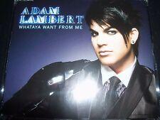 Adam Lambert Whataya Want From Me Australian CD Single – Like New