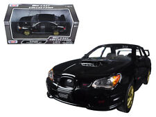 Subaru Impreza WRX STi Black 1/24 Scale Diecast Car Model By Motor Max 73330