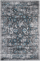 area rug Smt#105 Carpet large Gray distressed soft pile size options 5x7 8x11