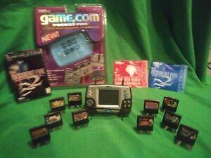 Rare vintage Tiger Game.com pocket w/10 games Resident Evil 2, Mortal Kombat etc