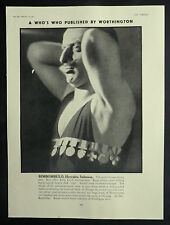 Bimbombulo Worthington Beer World Famous Strong Man 1930 Ad Advertisement 6673