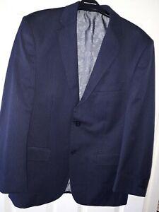 Mens Pierre Cardin Navy Pinstripe Suit Jacket Size 40S
