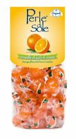 Hard Candy Sour Perle di Sole Orange Drops  made in Italy.