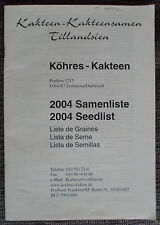 2004 Samenliste !! kakteen book cactus SEEDS CATALOGUE catalogo vivaio piante