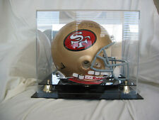 Football Helmet Display Case GOLD risers  Mirror Back 100% UV  NFL NCAA