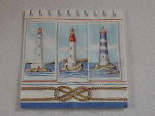 4 stück Lighthouse Servietten Leuchtturm maritim see knoten 1/4 motiv napkins