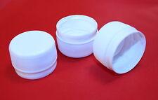 10  x 28mm White Plastic Bottle Tops, Tube Vault, Survival, Prepping, Drinks