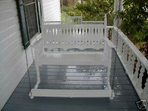 """Victorian 48"""" Porch Swing with foot pedal SFK Furniture"""