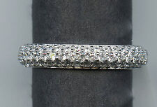 925 STERLING SILVER 1.2 CARAT TW SIGNITY CZ ETERNITY ANNIVERSARY WEDDING BAND 7