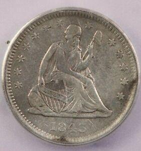 1843-O 1843 Liberty Seated Quarter ICG EF40 XF40 Details