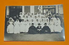CPA GUERRE 14-18 PERSONNEL HOPITAL MEDECIN INFIRMIERES CROIX ROUGE