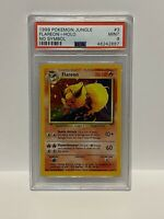 Flareon Holo 3/64 - PSA 9 - Error No Symbol - Jungle - Pokemon Card - WOTC