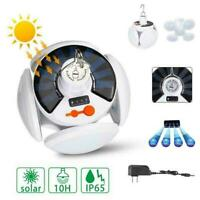 E27 Solar Light Deformable Garage Light Folding Bulb LED UFO Football Lamp G8V2
