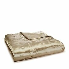 $530 Hudson Park Luxe Piazza Ultra Soft Velvet Quilted Coverlet Full/Queen Gold